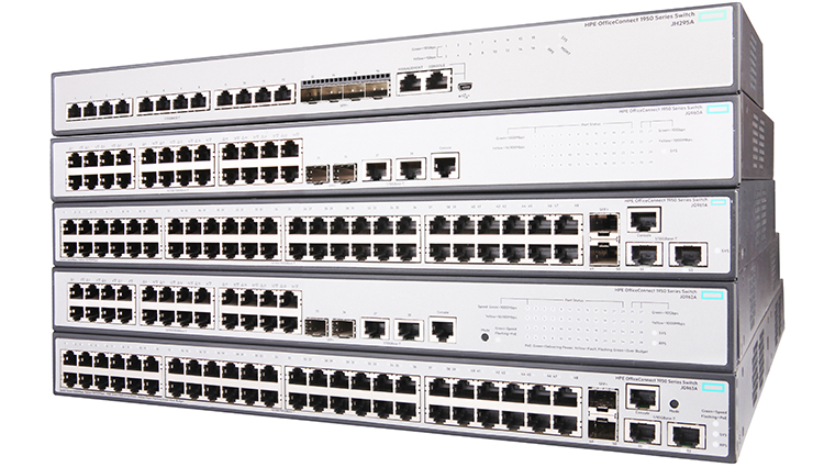 HPE OfficeConnect 1950 48xGbit, SFP+ PoE+ 370W Web-mgd Switch