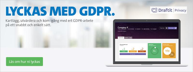 Lyckas med GDPR