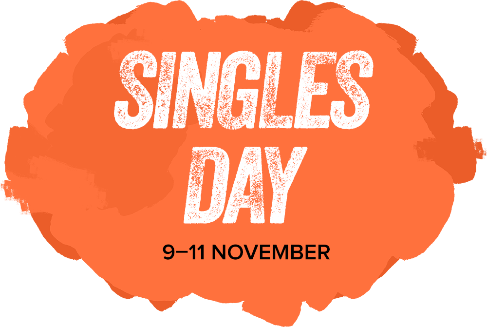 Singles day splash