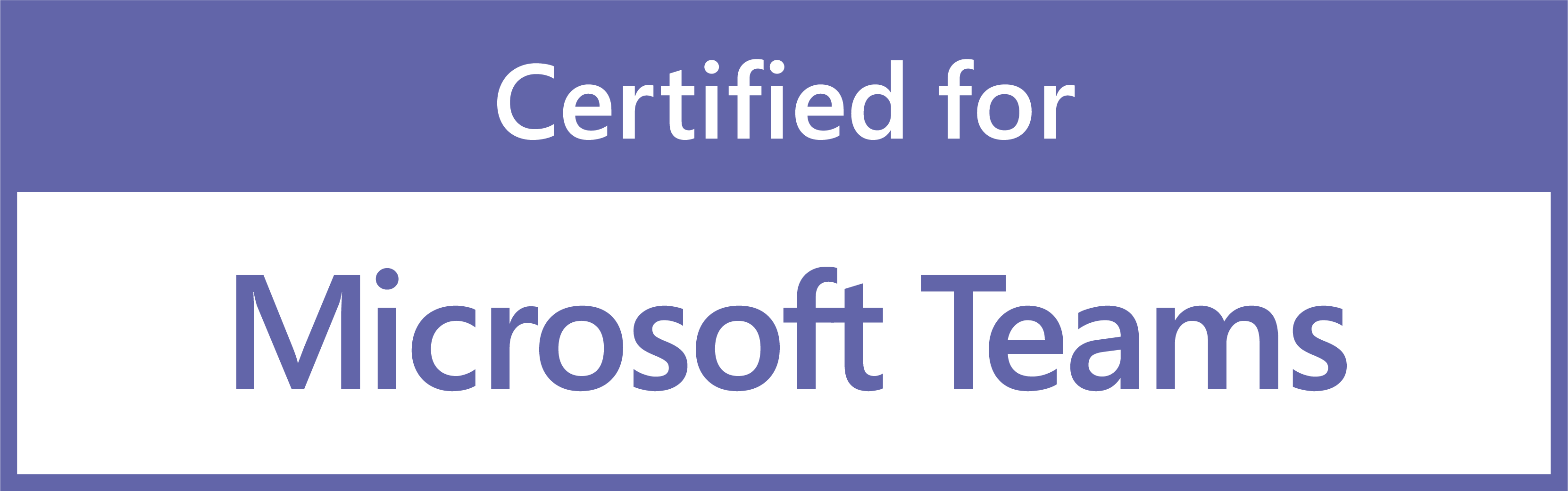 Sertified for Microsoft Teams